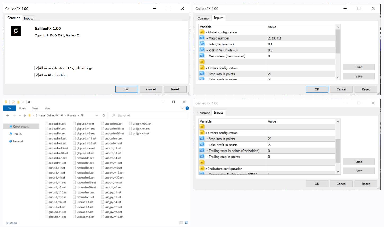 Galileo FX - settings