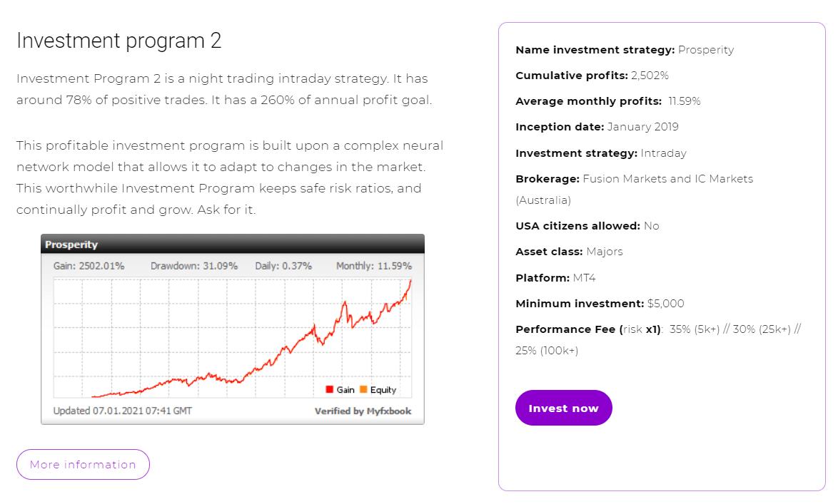 Investment program 2