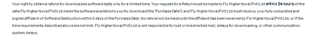 Offer for a refund