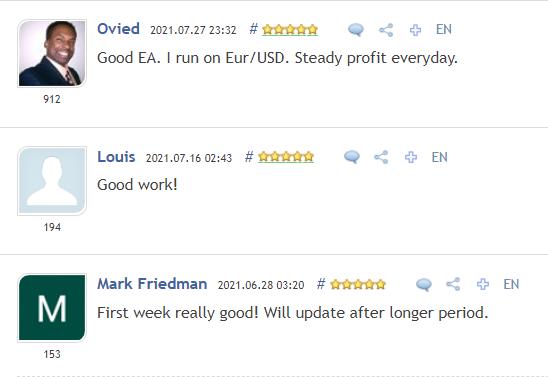 Advanced Hedge testimonials on MQL5