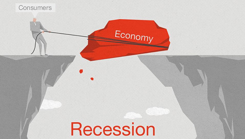 Recession of economy, concept