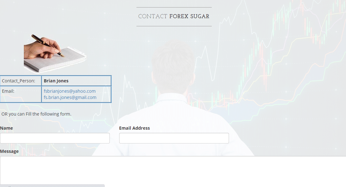 Customer support provided by Forex Sugar