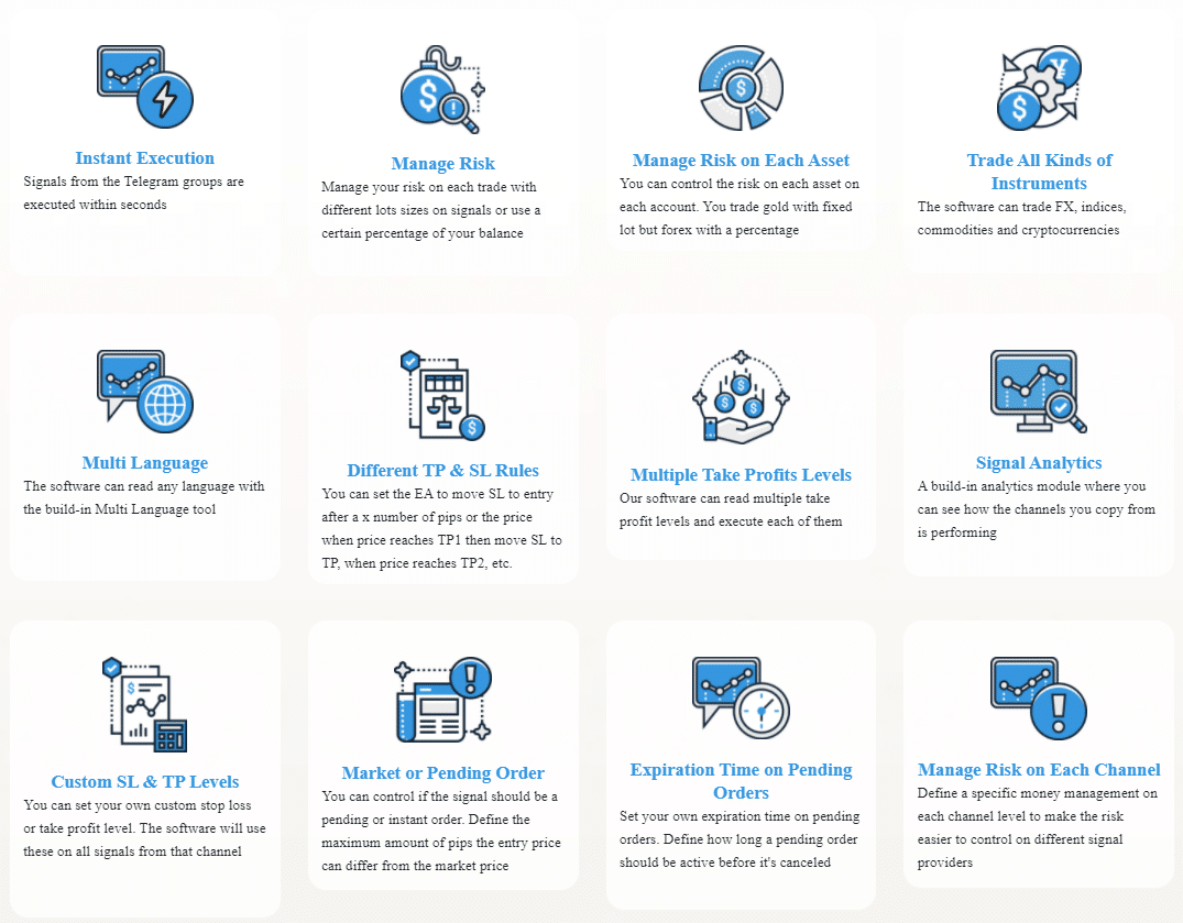 Key features of Telegram Connector