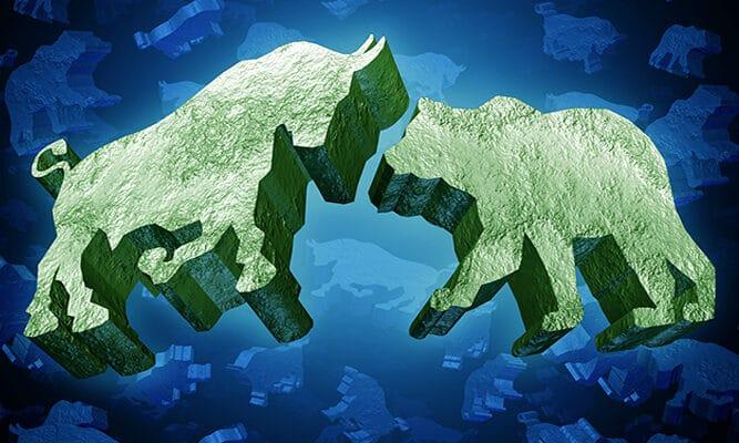 bull and bear investing symbol