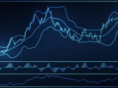 Blue charts on the dark background