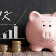 piggy-bank, coins and 401k