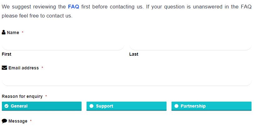 Customer support info for DDMarkets