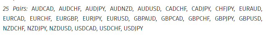 The currency pairs this EA focuses on