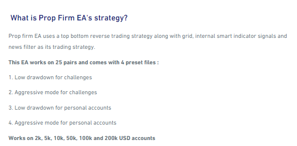 Strategy of Prop Firm EA