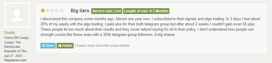 Customer review at FPA